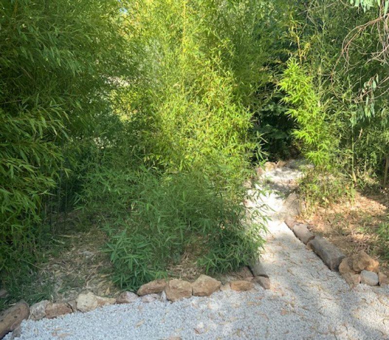 un des chemins d'accès