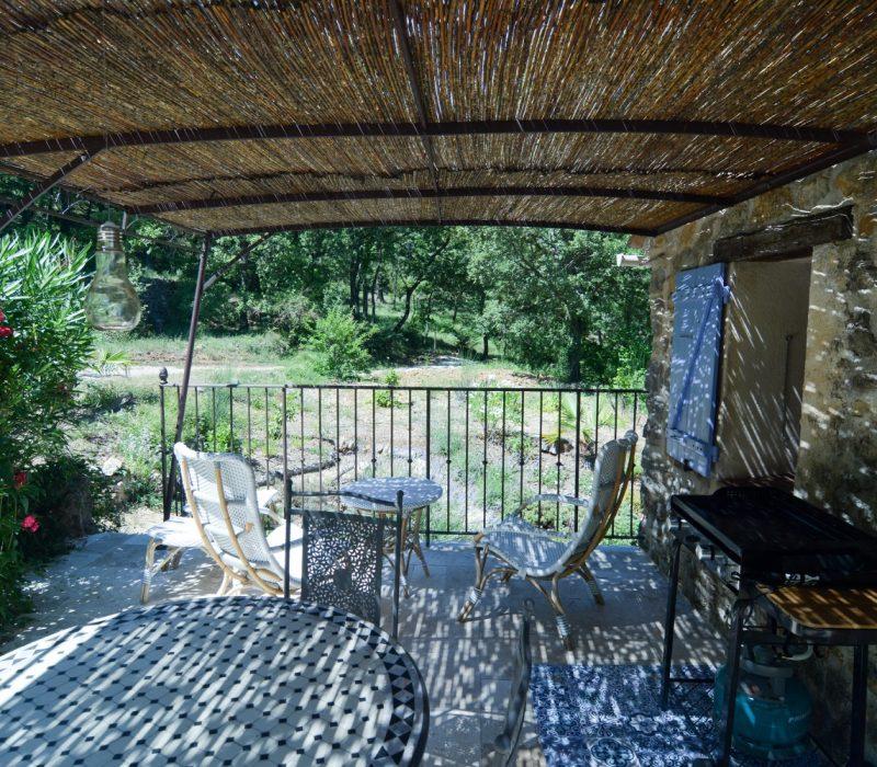 mazette terrasse ombrage